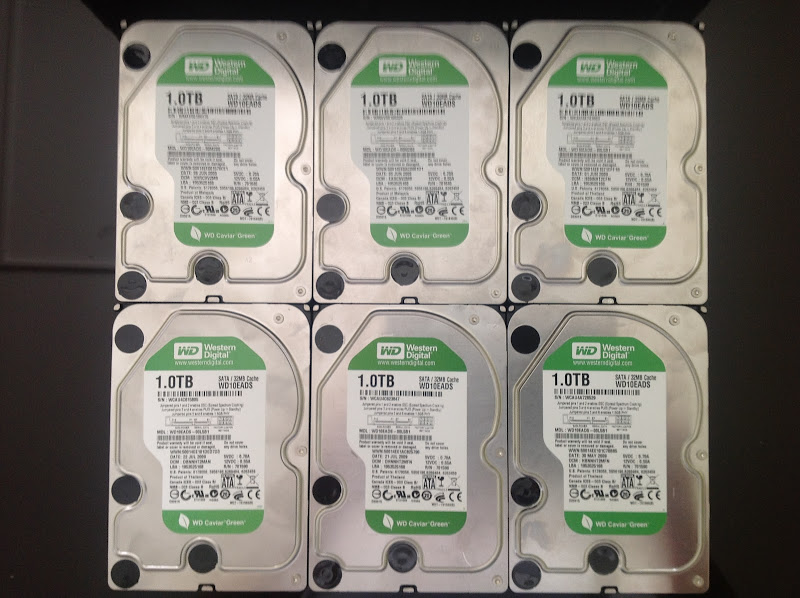A plethora of hard drive storage